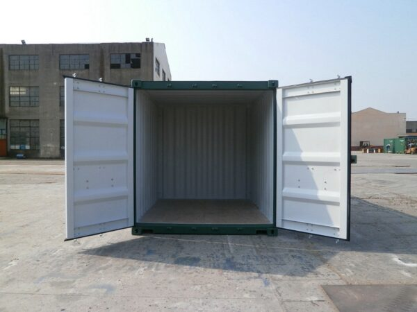 10ft New Container Green with Lockbox UK