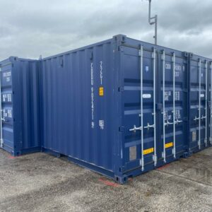 10ft New Container UK shipping and storage in steel Blue