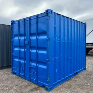 10ft Used Container Painted Blue with Lockbox for sale