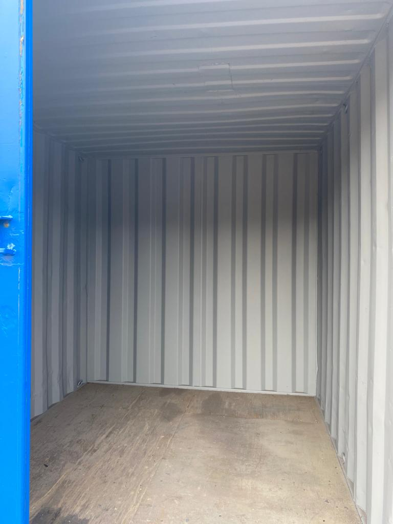 10ft Used Container Painted Blue with Lockbox for sale UK