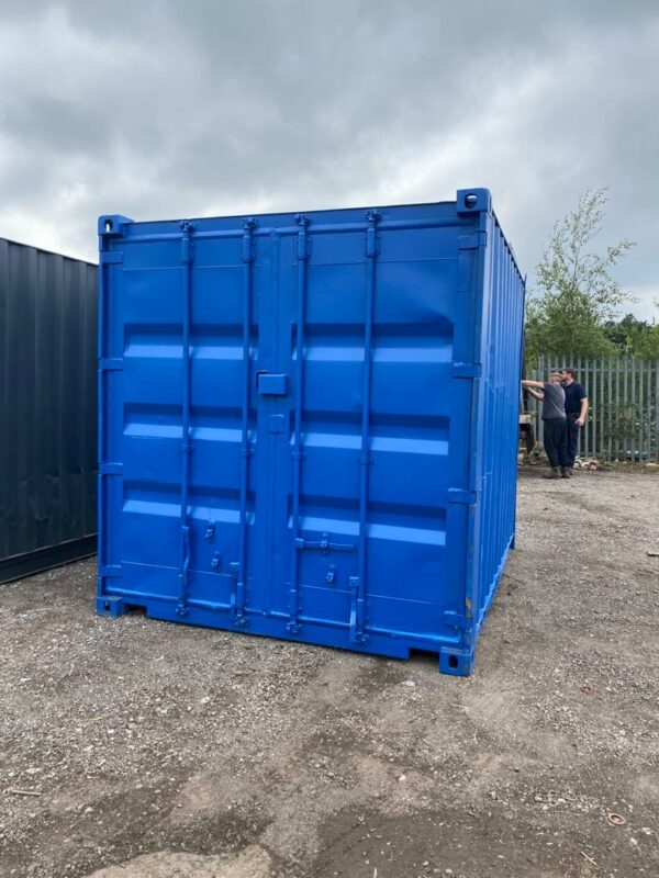 10ft Used Container Painted Grey with Lockbox UK