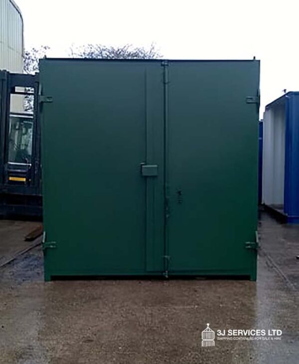 10ft Used Container Repainted in Green