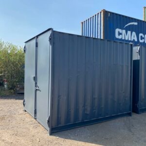 10ft Used Container for sale Painted Grey with Lockbox