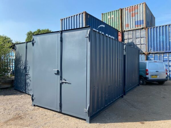 10ft Used Container for sale Painted in Grey Lockbox fitted UK