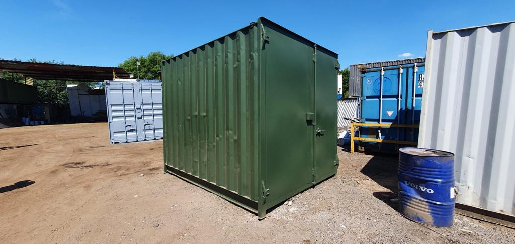 10ft Used Containers for sale in Green with Lockbox