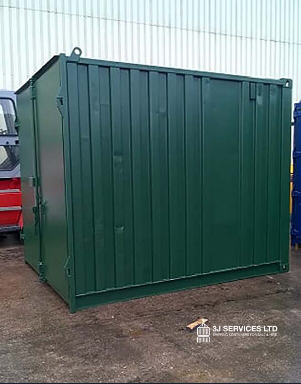 10ft Used Steel Container Repainted in Green