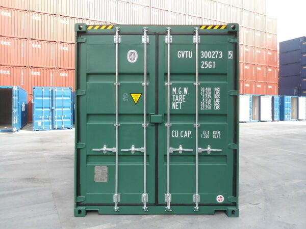 20ft High Cube shipping container for sale uk REAR view