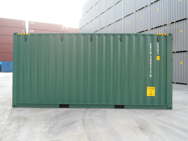 20ft New High Cube Container for sale UK in Green left side