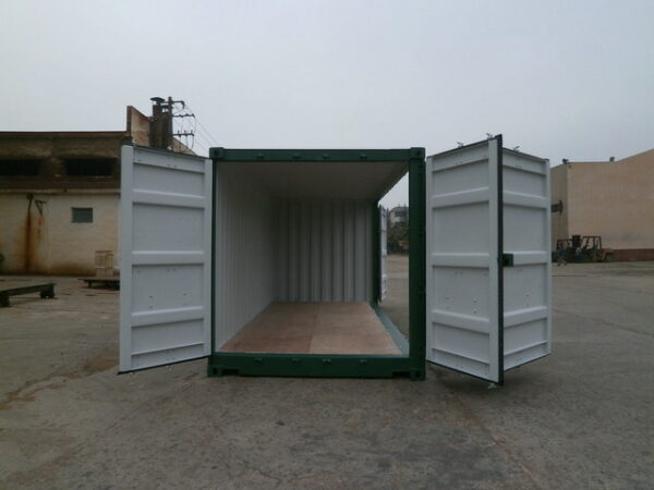20ft Storage Container with Side Access for sale - Side Loader Doors Open UK