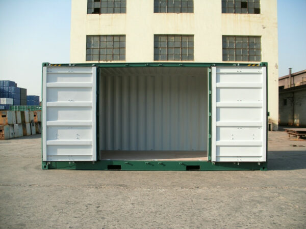 20ft Storage Container with Side Access for sale - doors open