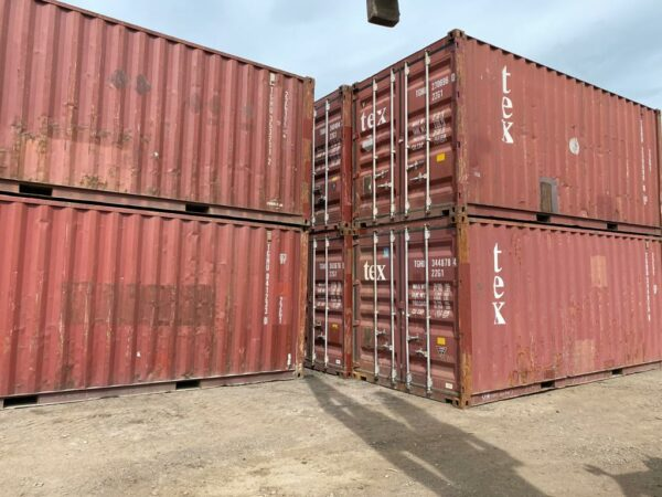 20ft Used Container for sale Harvest Gold Brown Stack uk