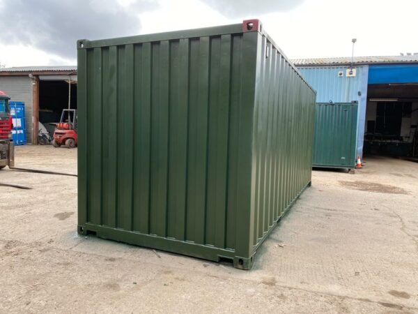 20ft Used Containers Repainted in Green Scotland