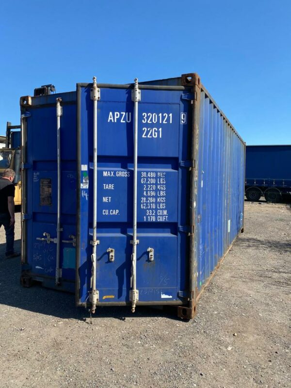 20ft Used Containers for sale Blue front view