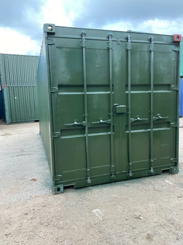20ft Used Containers for sale Repainted Green Birmingham UK