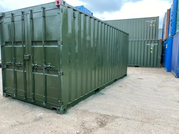 20ft Used Containers for sale Repainted in Green