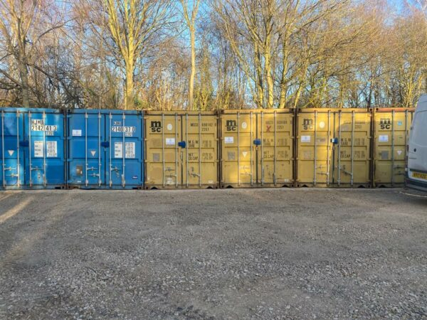 20ft Used Containers for sale West Midlands Row