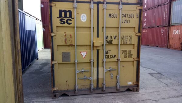 20ft Used Containers for sale in Harvest Gold Falmouth UK