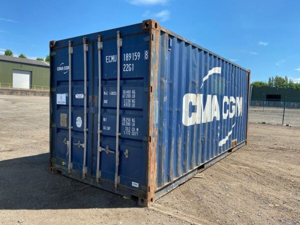 20ft Used Shipping Container for sale in Blue UK