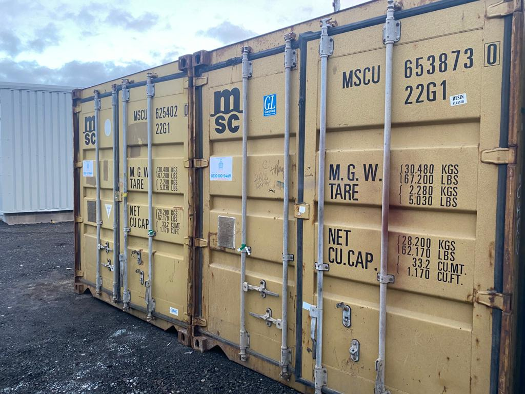 20ft Used Shipping Containers for sale Pair GLasgow Scotland