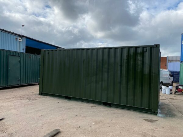 20ft Used Shipping Containers for sale Repainted Green near me