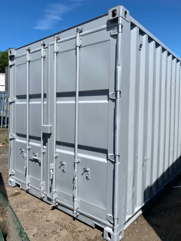 20ft Used Shipping Containers for sale Repainted Grey UK