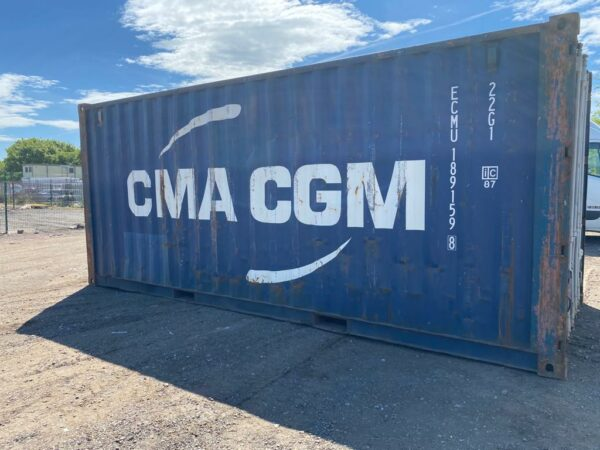 20ft Used Steel Container for sale Blue side