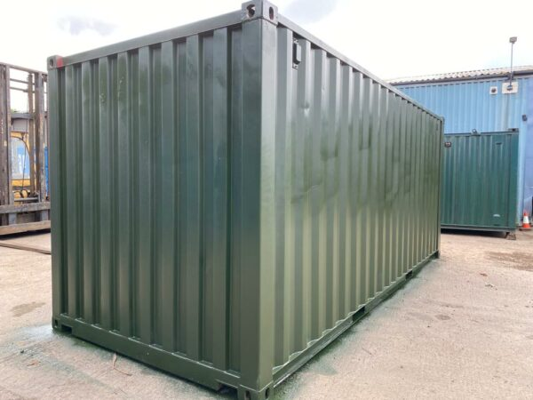 20ft Used Steel Containers for sale Repainted Green UK