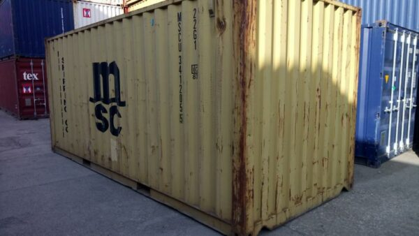 20ft Used Storage Container for sale in Harvest Gold Felixstowe UK