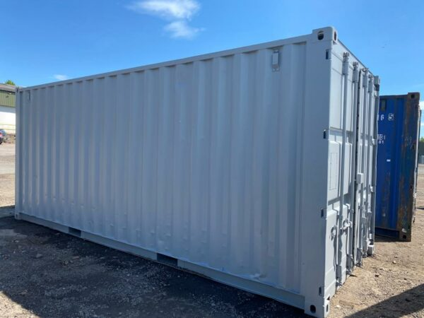 20ft Used containers for sale Repainted Grey Manchester UK