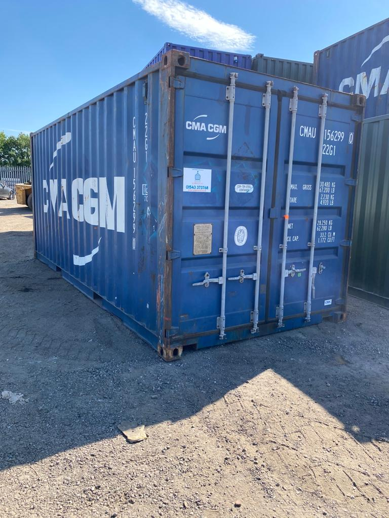 20ft used steel container in blue for sale near me