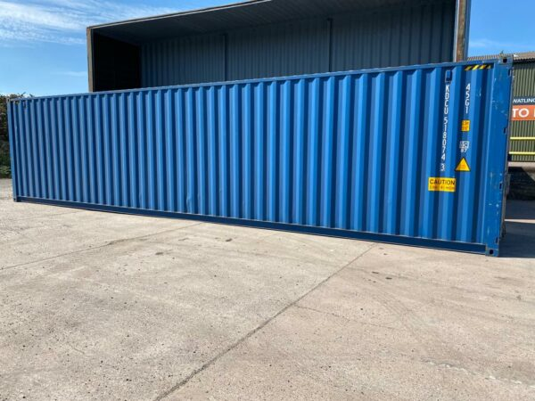 40ft New High Cube Container for sale Blue Side