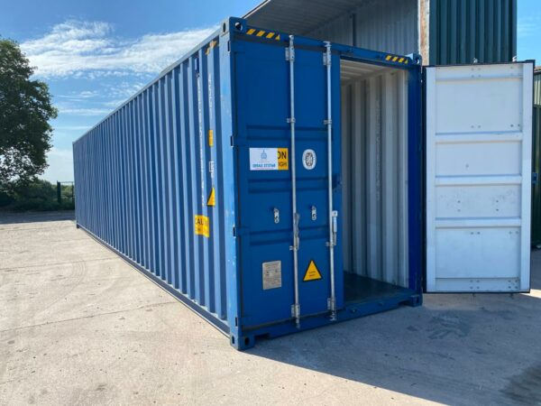 40ft New High Cube Storage Container for sale UK Blue