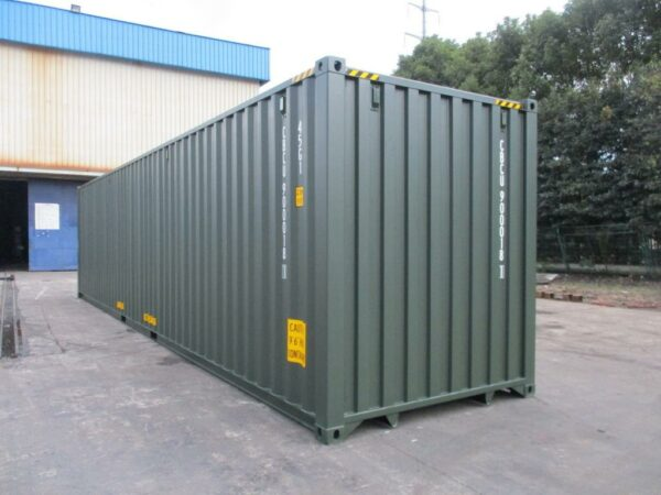 40ft New High Cube Storage Containers for sale Green finish