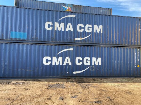 40ft Used Container for Sale CMA Blue