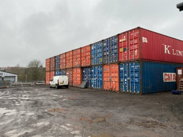 40ft Used Container for Sale Stack