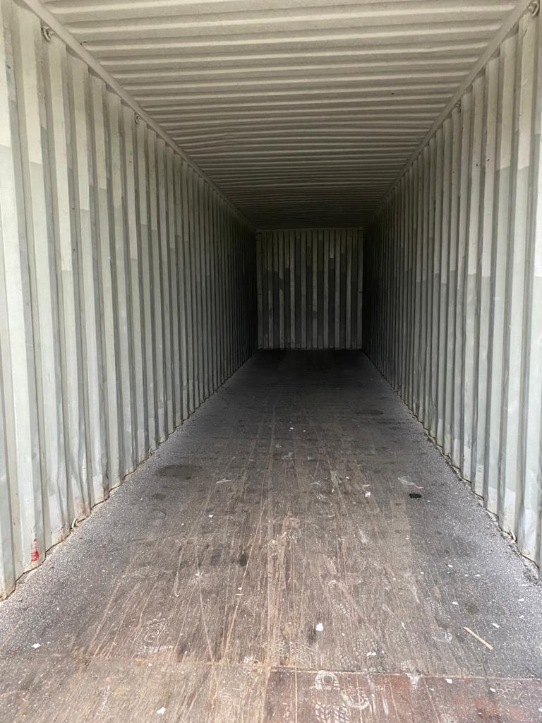 40ft Used High Cube Steel Container for sale UK Internal