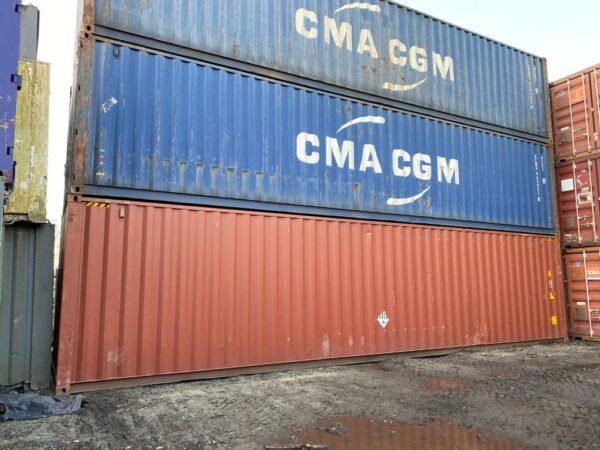 40ft Used Shipping Containers for Sale Stack