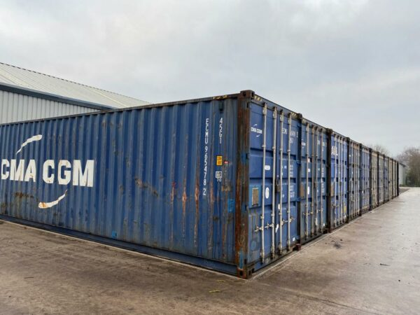 40ft Used Steel Container for Sale Blue UK