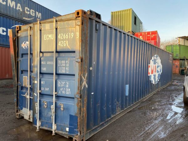 40ft Used Storage Container for Sale Blue