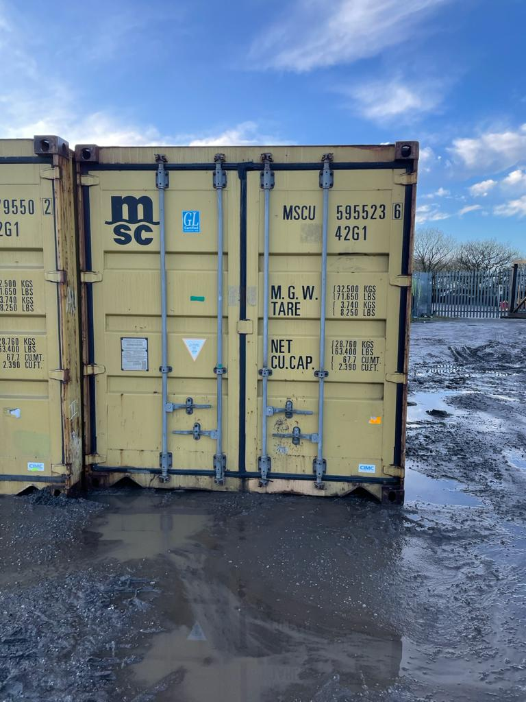 40ft Used Storage Container for Sale Harvest Gold