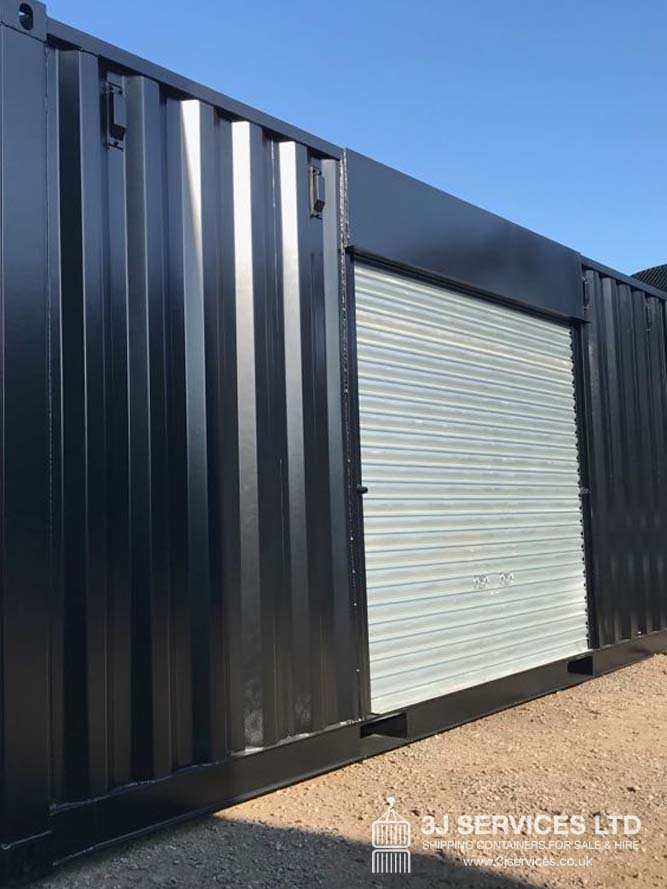 Modified Container with Roller Shutter side door fitted uk for sale
