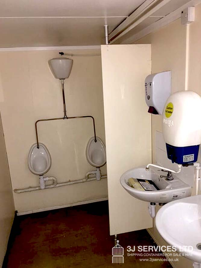 Leyton shipping container toilet block for sale in London