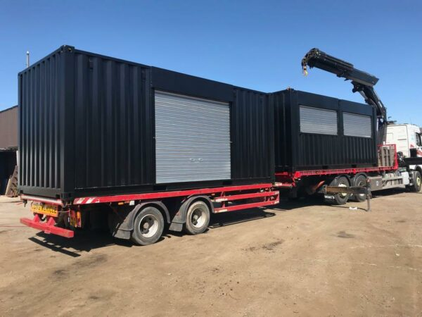 roller shutter doors modified containers in the UK
