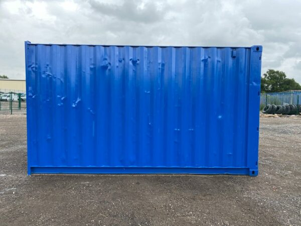 12ft Used Cutdown painted blue medium container