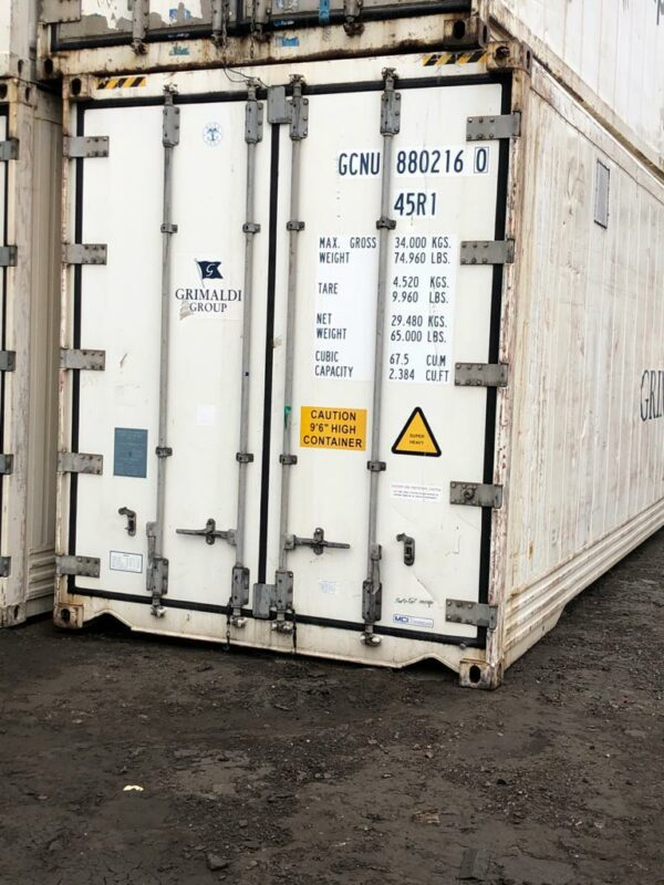 20ft Used Refrigerated High Cube containers for sale UK
