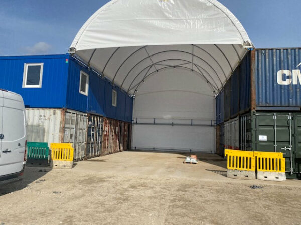 20ft container offices with canopy uk