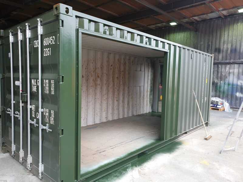 20ft modified container for a coffee shop in bristol
