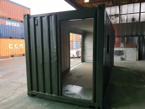 20ft bespoke container made into a bristol coffee shop