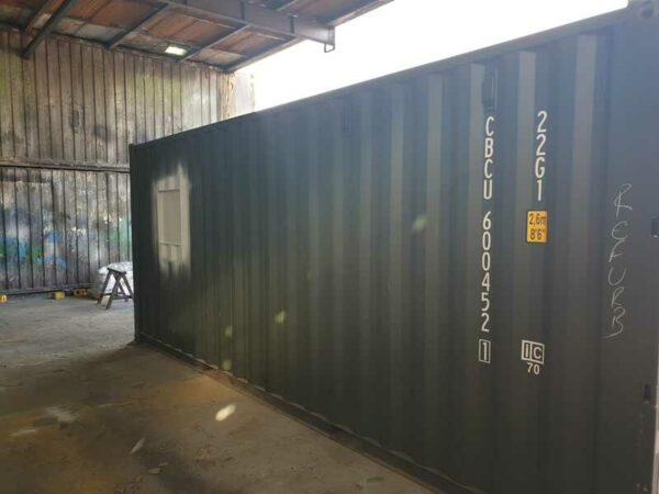 20ft customised container coffee shop bristol