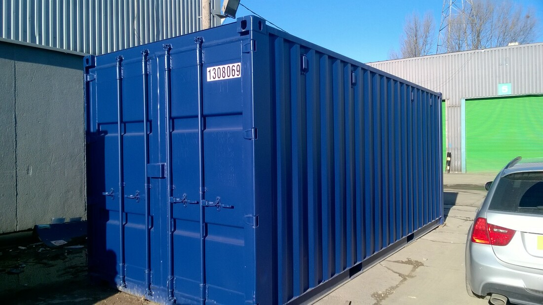 20ft used shipping containter for sale sheffield painted